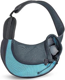 KH Pet Carrier,Hand Free Carrier Breathable Mesh Travel Safe Sling Bag- Single Shoulder Carrier Pet Padded Strap Tote Bag ...
