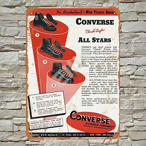Ellis 1939 Converse Tennisschuhe Vintage Retro Blechschild Wanddeko für Geschäfte, Höhlenbar,...
