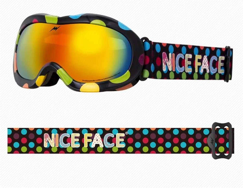 He-yanjing Skibrille männlichen und und und weiblichen Kinder, doppelter Anti-Beschlagspiegel, wandernde Skischutzbrillen der Mode im Freien (Farbe   D) B07JL6G4XQ  Elegantes Aussehen b54114