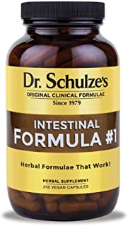 Dr. Schulze's | Intestinal Formula #1 | Promotes Regular & Complete Bowel Movements | All Natural Herbal Product | Relieve Constipation | Better Digestion | Dietary Supplement | 250 Vegan Capsules