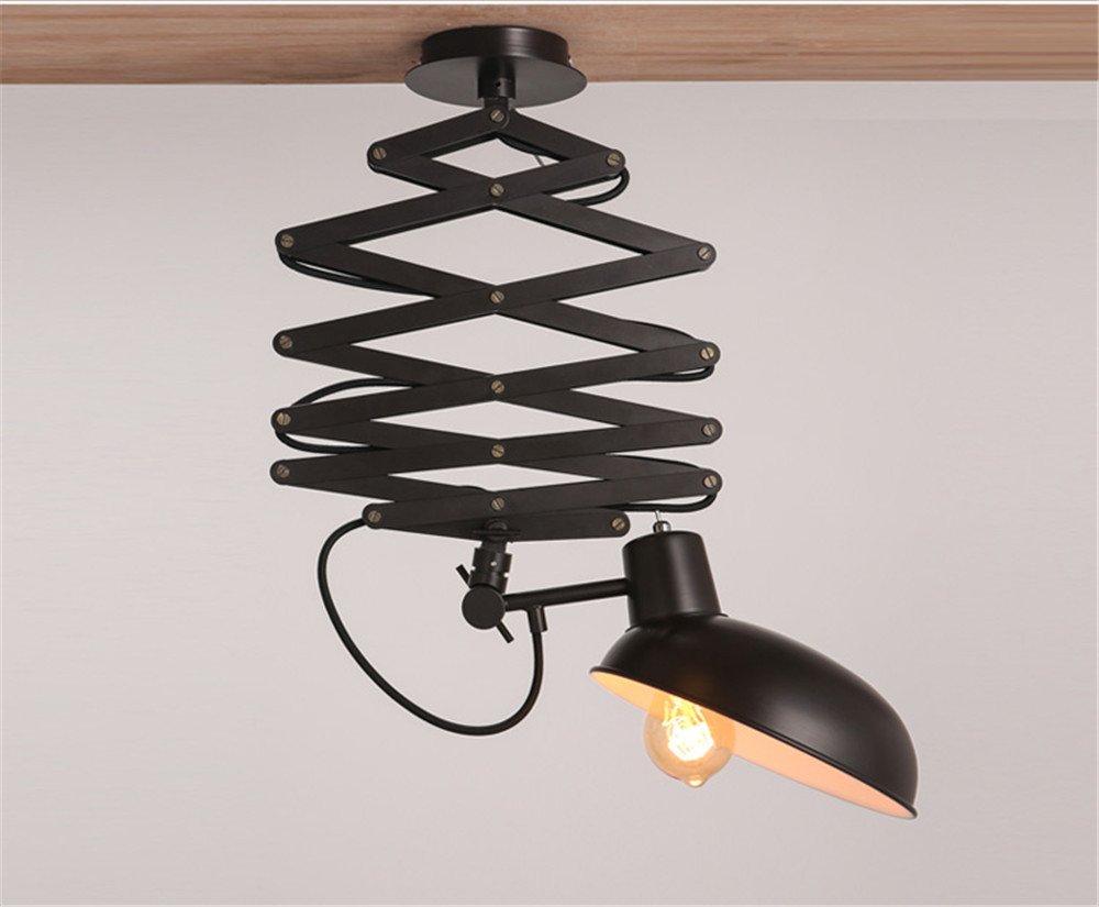 Colgante LED modernos accesorios de montaje a ras de techo escamoteable retro creativa Simple luz eólica industrial aldea americana lámpara de techo lámpara telescópica de almacén Iluminación de techo, 220mm: Amazon.es: Iluminación