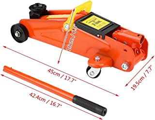 Qiilu 2T Capacity Car Lift Hydraulic Jack Automotive Lifter Trolley Jack Repair Tool