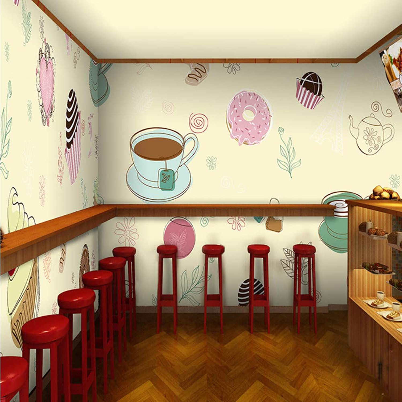 ¡envío gratis! Ponana Pan Pastel Fondo Fondo Fondo De Pantalla Delicadeza Ilustración Mural Tienda De Té Cafetería Restaurante Murales De Parojo 3D Mural De Papel Tapiz No Tejido EuropeoB-200X140Cm  la mejor oferta de tienda online