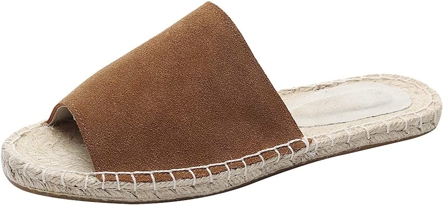 Anufer Women's European Fashion Peep-Toe Summer Sandal Slippers Espadrilles