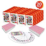 Gamie Mini Playing Cards - Pack of 20 Decks - Poker Cards - Miniature 1.5 Inch Card Set - Small Casino Game Cards for Kids, and Adults - Great Novelty Gift, Party Favor for Boys and Girls
