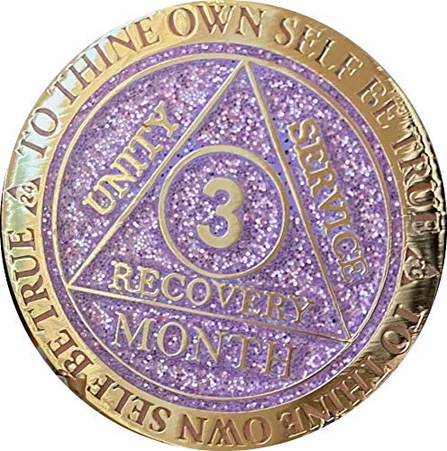 SEAL limited product Recoverychip 3 Month AA Medallion Glitter Reflex Purple and Gold trend rank