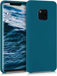 kwmobile Hülle kompatibel mit Huawei Mate 20 Pro   Handyhülle gummiert   Handy Case in Petrol matt
