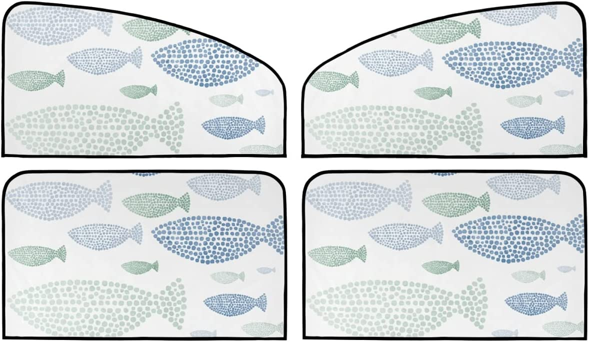 4 Piece Set Magnetic Max 77% OFF Car Roller Marine Animal - Summe Shade Today's only Fish