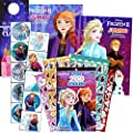 Disney Frozen Coloring Book with Stickers Bundle Includes 2 Disney Frozen Coloring Books and Stickers with 2-Sided Castle Door Hanger