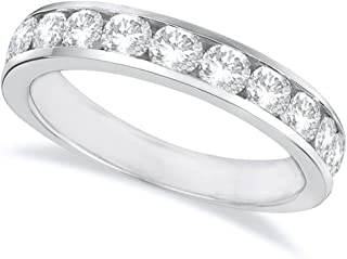 2 Carat (ctw) 14K White Gold Round Diamond Ladies Channel Set Half-Way Semi-Eternity Wedding Anniversary Stackable Ring Ba...