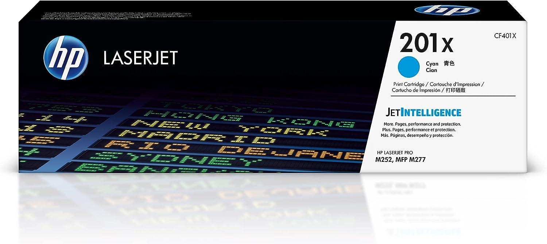 HP 201X | CF401X | Toner-Cartridge | Cyan | Works with HP Color LaserJet Pro M252dw, M277 series| High Yield
