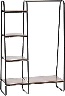 Merk Amazon - Movian, Kledingkast / Kapstok met planken en accessoiresteunen in hout en metaal, Maximaal gewicht: 35 kg, W...