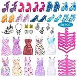 Ourine 50 Psc/Set Barbie Accesorios de Muñeca Lindo Vestido de Tacones Altos Conjunto para Barbie Ropa Accesorios para...