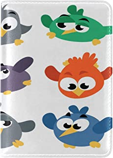 Angry Birds Genuine Leather Passport Holder Cover Travel Passes Case