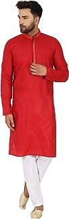 SKAVIJ Men's Cotton Kurta Pajama Set Evening Dress