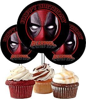 12 Red Ninja Birthday Inspired Party Picks, Cupcake Picks, Cupcake Toppers #1