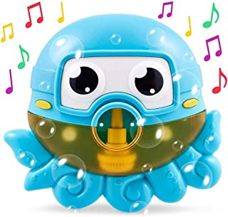 AM ANNA Octopus Bath Toy Bubble Bath Maker for The Bathtub Blows Bubbles and Plays 24 Children's Songs – Sing-Along Bath B...