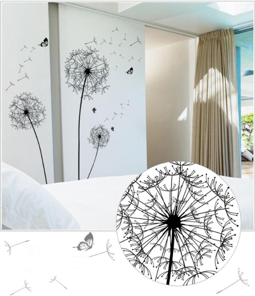 YJYdada DIY Limited price sale Home Kansas City Mall Decor Large Black Wall Art Sticker Dandelion De
