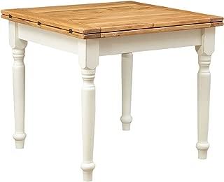 Vislone Festnight Tavolo da Sala da Pranzo Rettangolare//Quadrato,Tavolo da Cucian Rettangoalre//Quadrato in Legno Massello Recuperato 115x60x76 cm//80x82x76 cm//115x60x107 cm