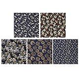 EXCEART 5 Piezas de Tela de Estilo Japonés Patchwork Costura de Algodón Tela...