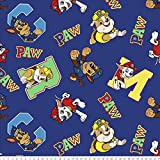 Paw Patrol Alphabet Anti-Pill Fleece Fabric by The Yard
