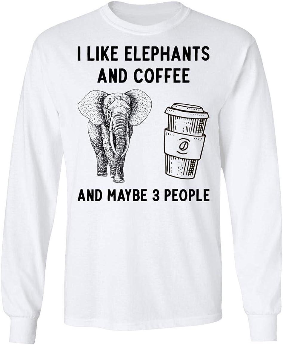 人気ブランド多数対象 I Like Elephants and Coffee Maybe - 3 Sweatshi 即納送料無料! Hoodie People