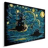 Feeby Anime vom DDJVIGO Leinwandbild - 40x60 cm - blau gelb