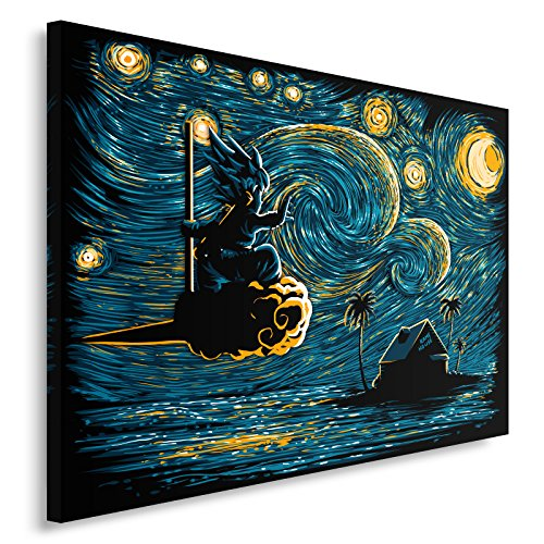 Feeby. Cuadro en Lienzo - 1 Parte - 60x40 cm, Imagen impresión Pintura decoración Cuadros de una Pieza, Starry Saiyan - DDJVigo, Anime, Azul Marino