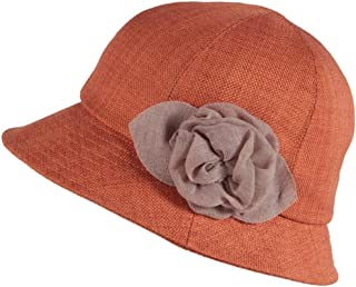 Hats Female Korean Version of Sun Protection UV Folding Can Be Tied to Wind Rope Cap Riding Hat Sun Hat Fashion (Color : Orange)