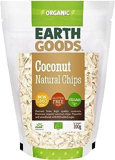 Earth Goods Organic Natural Coconut Chips NON-GMO;Gluten-Free; Vegan 100g