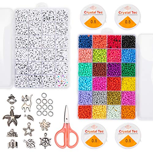 Jewelry Making Supplies, Alphabet Beads and Charms (5,026 Pieces Total)