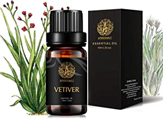 Aromatherapy Essential Oil Vetiver, 100% Pure & Therapeutic Grade Vetiver Essential Oils Scent, 10ml Vetiver Aromatherapy Essential Oils Fragrance Oils Sets for Diffuser, Humidifier, Massage