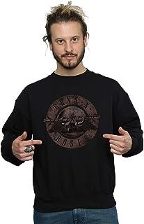 Absolute Cult Guns N Roses Men's Sepia Bullet Logo Sweatshirt