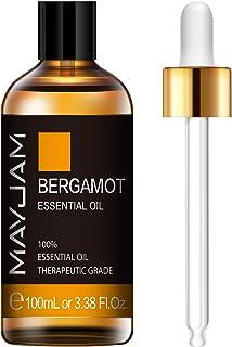 MAYJAM Bergamot Essential Oil 100ML/3.38FL.OZ Pure Bergamot Essential Oils for Diffuser, Humidifier, Massage, Aromatherapy...