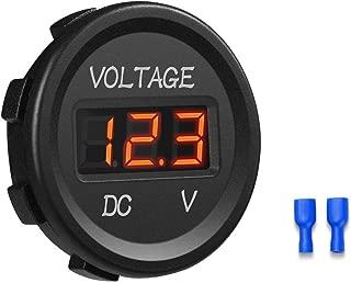 barco volt/ímetro para coche Volt/ímetro impermeable motocicleta veh/ículo marino cami/ón medidor de voltaje digital DC12 V verde Powertool