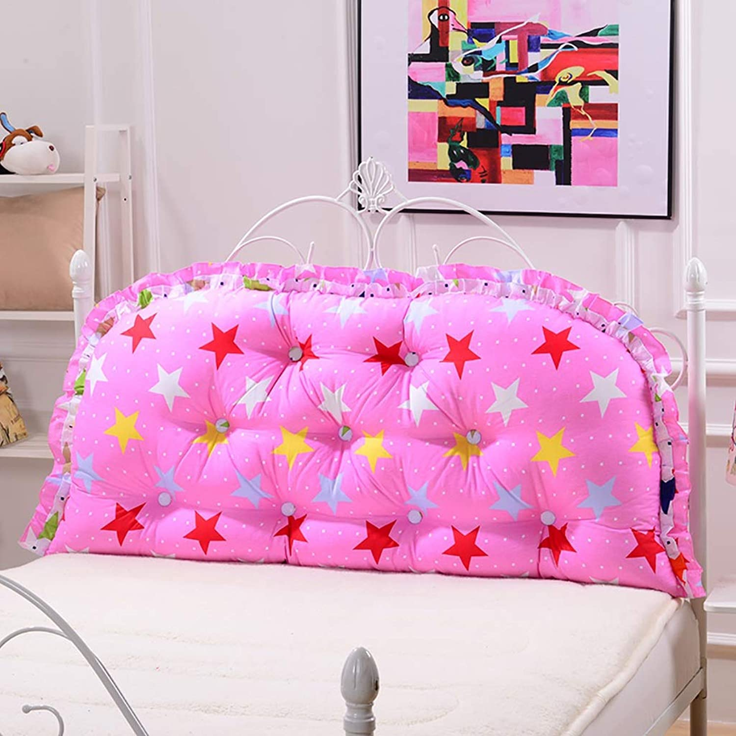 Headboard Bed Backrest Cushion Bed Cushion Bedside Pillow Cotton Soft Large Pillow Lumbar Support Detachable and Washable 11 Solid colors 4 (color   A10, Size   150  65cm)