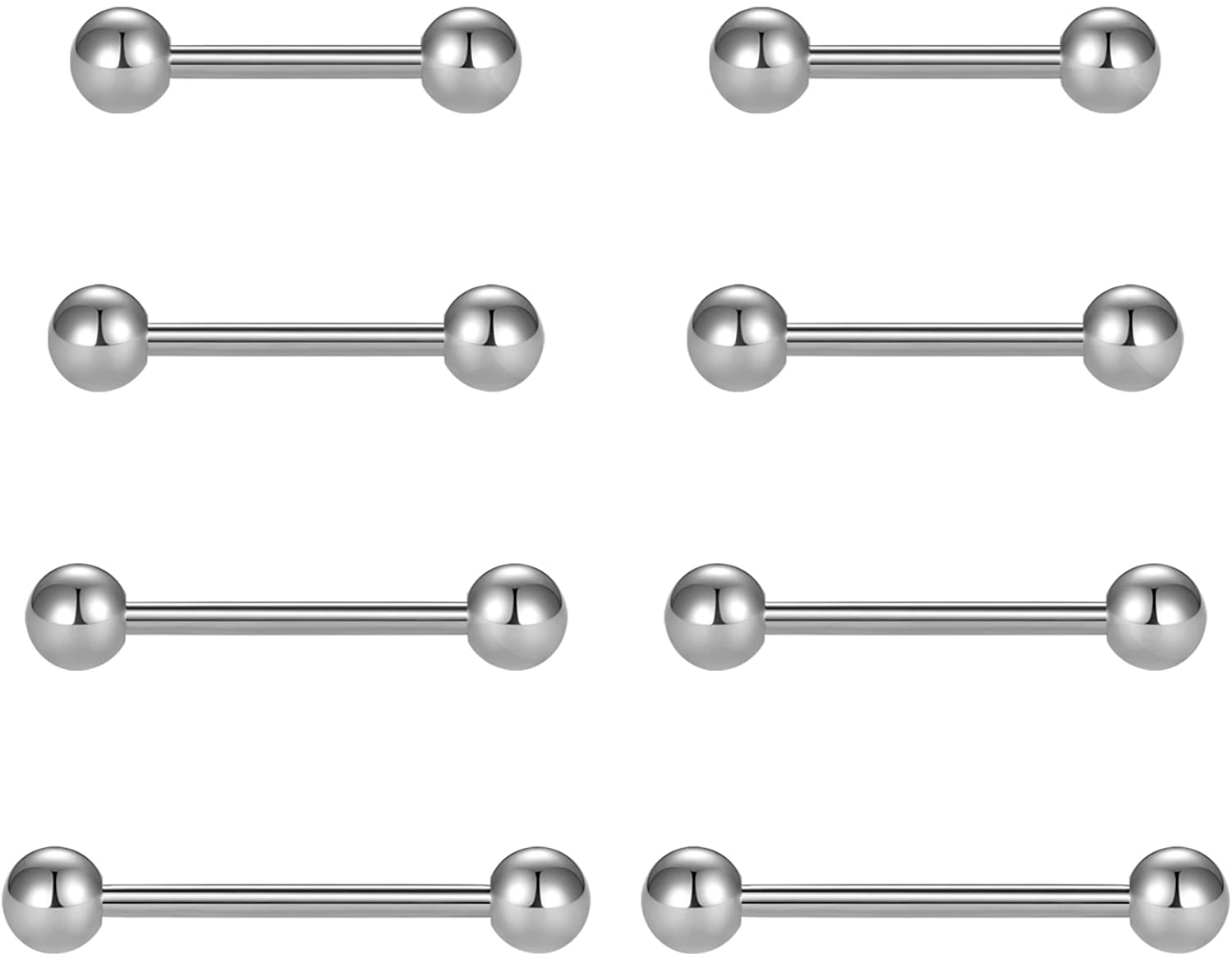 vcmart Free Shipping New Limited time for free shipping Nipple Rings Tongue Stainless Steel 14G Ba Straight