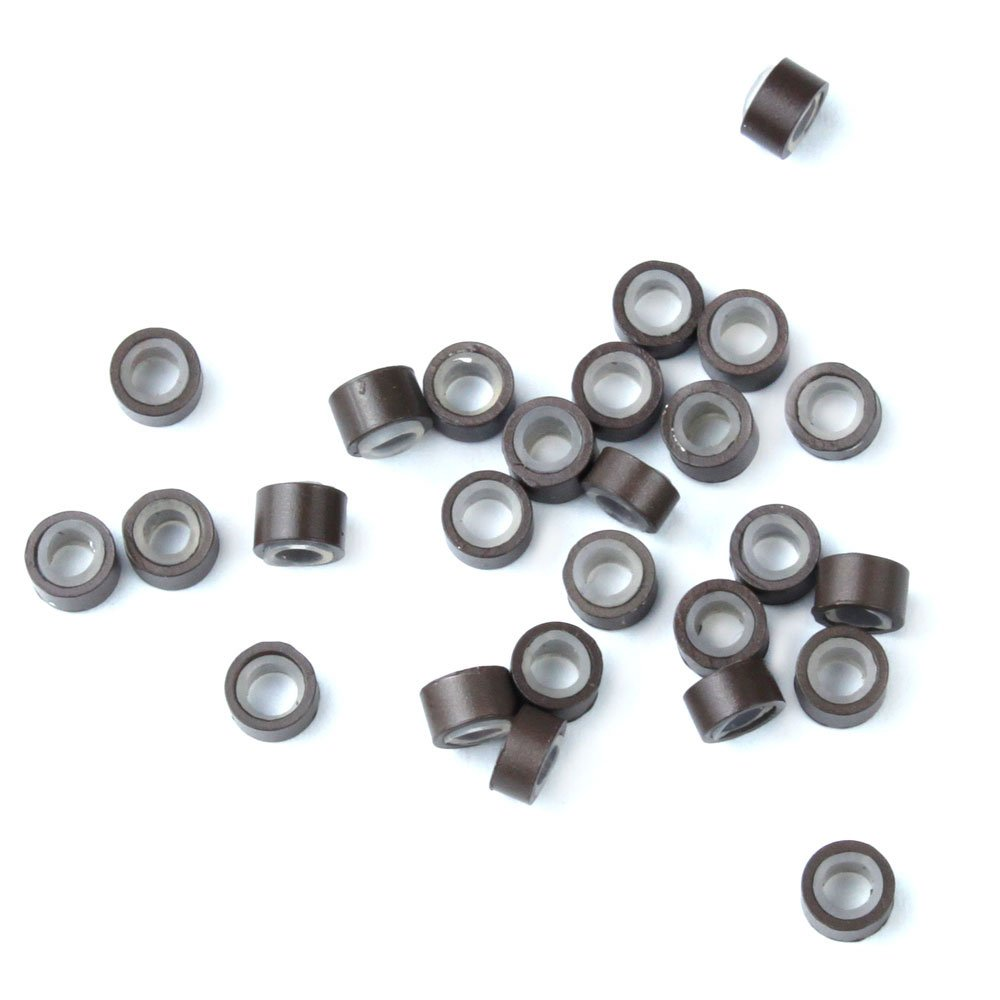 FOONEE specialty Popular shop Brown 5mm Silicone Lined Beads Links Linkies Micro Rings