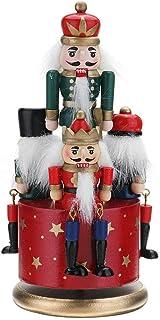 Type-2 Schiaccianoci Natale schiaccianoci ornamenti 38CM legno Schiaccianoci Soldato giocattolo del burattino della festa allaperto Yard Albero decorazioni dattaccatura per il regalo di Natale