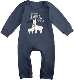 Baby No Problem Llama Mama Lightweight Long Sleeve Jumpsuit