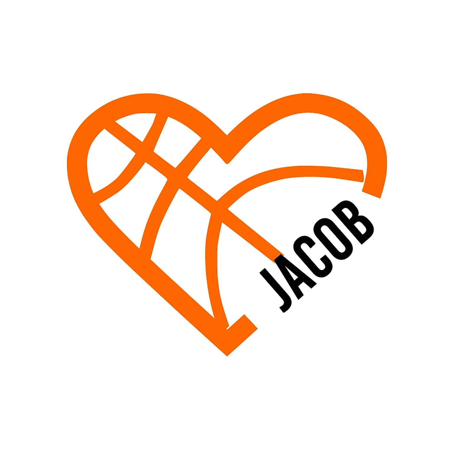 Personalized Direct store Basketball Heart with Free shipping on posting reviews Name Vinyl Custom Decal Sti