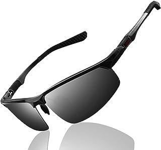 FEIDU Sunglasses man - Pilot sunglasses mens with Ultra-Light Metallic Metal Frame and Women Mens sunglasses FD9002 (5.2-b...
