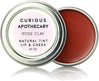 Curious Apothecary Rose Clay cheek and lip tint for women.