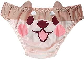 Cute Girls Anime Panties Shiba Inu/Akita Dog Printed Cotton Underwear Brief Cosplay Costume