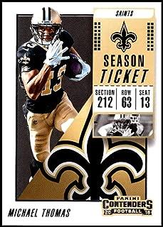 2018 Panini Contenders Season Tickets #34 Michael Thomas New Orleans Saints NFL Football Trading Card