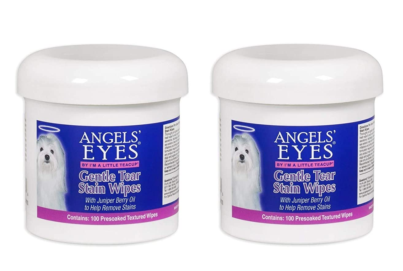 Angel's Eyes Gentle Tear 100 Presoaked Textured Stain Wipes (2-(Pack))