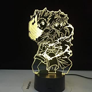 Stijlvolle 3D Nachtlampje Gon en Killua Anime Hunter X Hunter Nachtlampje voor Kid Slaapkamer Decor Verlichting Kind Gift ...