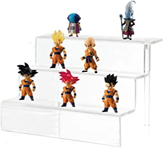 CY craft Acrylic Riser Display Shelf,3 Steps Display Stand for Amiibo Funko POP Figures,Cosmetics or Any Other Toys and Knickknacks,12x8x8.7 Inch,Clear, Pack of 1