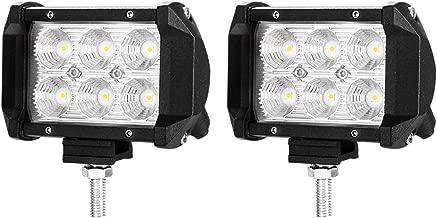 LIGHTFOX 2X 4inch CREE LED Work Light Bar Flood Driving Lamp Offroad 4WD Reverse 3 Years Warranty