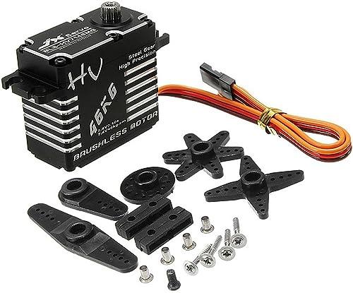 Goolsky RC Servo 46kg Drehmomentstarke Brushless Digital Metall Servo Wasserdicht für RC Auto Stiefel Roboter Hubschrauber HPI HSP,BLS-HV7146MG